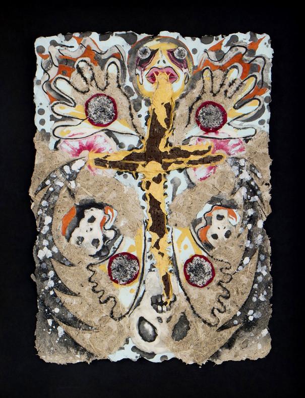 Kunstwerk Gestalt verschiedene Materialien