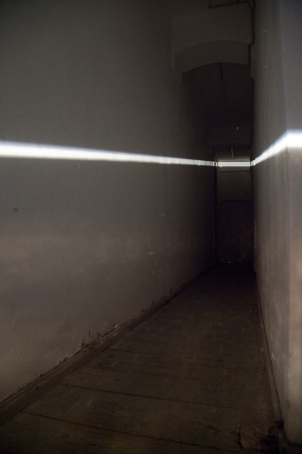 Light installation in a hallway.