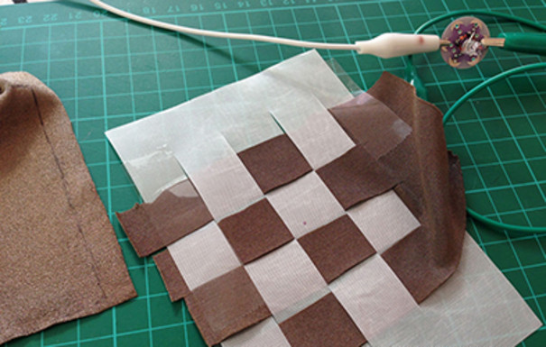 Test sample for textile energy harvesting.