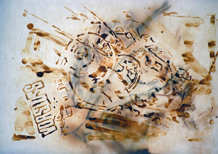 Abstract image in brown and white.