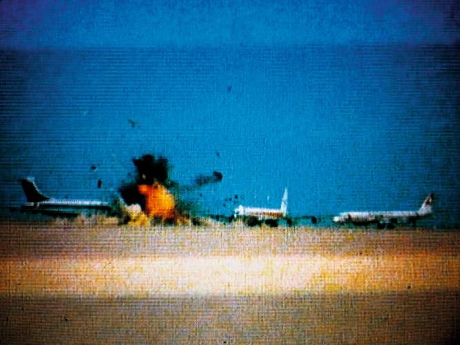 Three hijacked jets on desert airstrip near Amman, Jordan