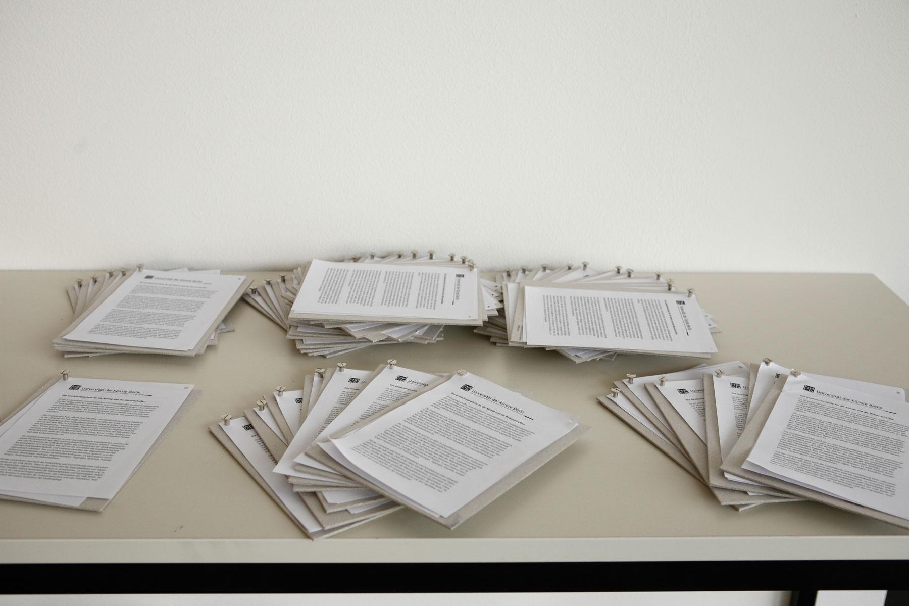 Material Und Druckkostenförderung Universität Der Künste Berlin