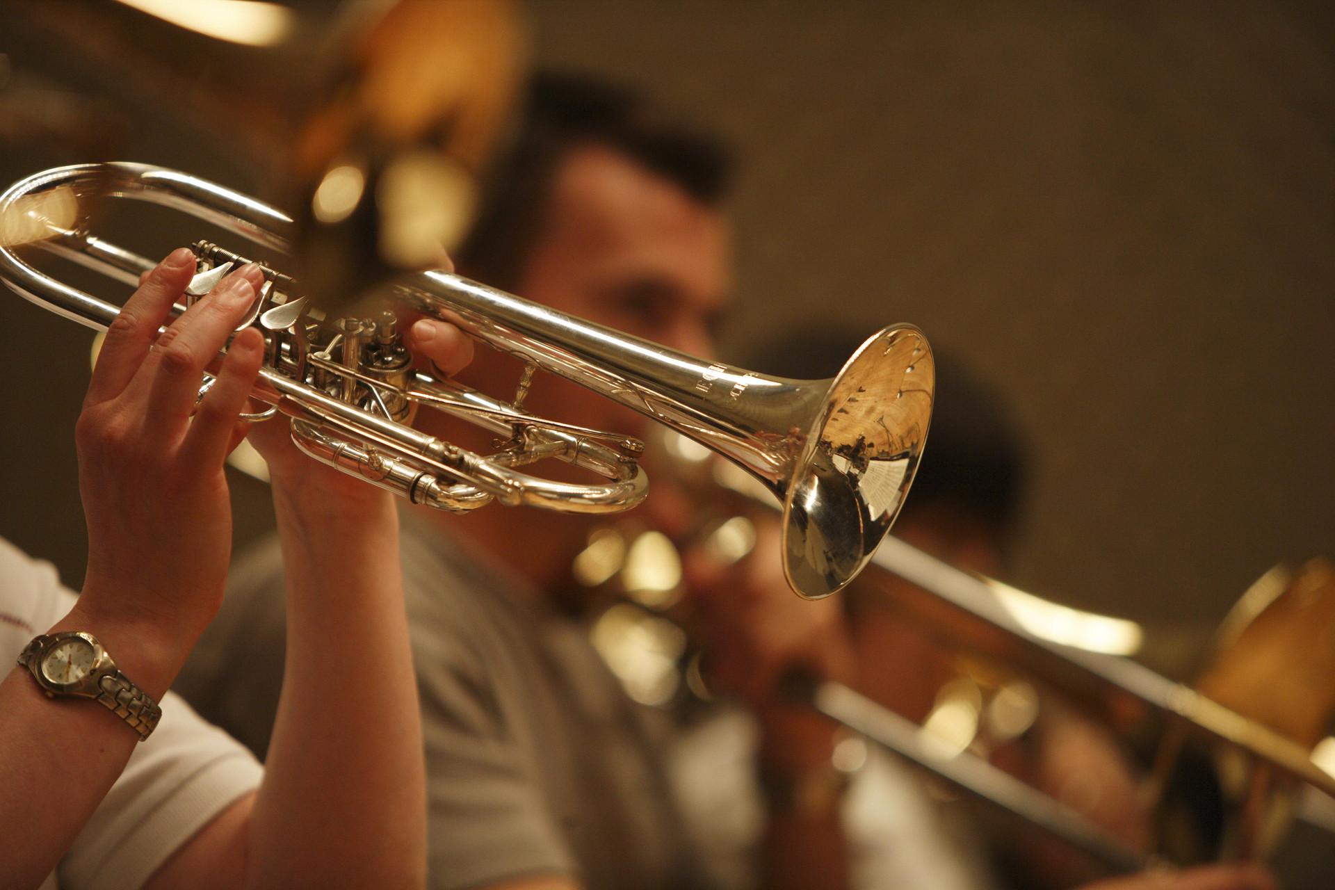 Eine Trompete.