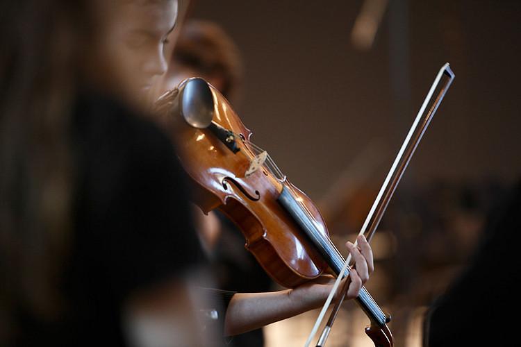 Geige wird gespielt