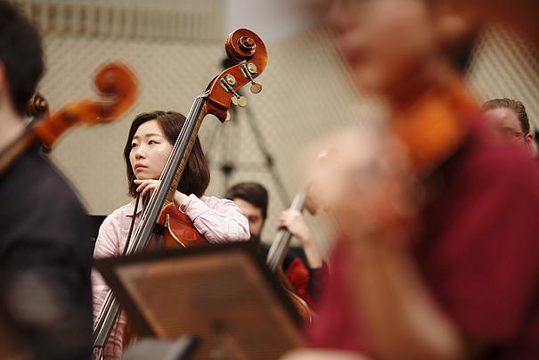 Nahaufnahme Cellistin